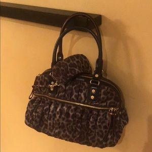 MZ Wallace Leopard Bea with separate purse